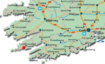 Skibbereen Ireland Map.Castletownbere Self Catering Holiday Homes And Cottages Beara West